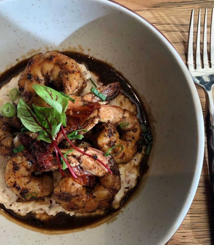 Shrimp and grits at Highball & Harvest