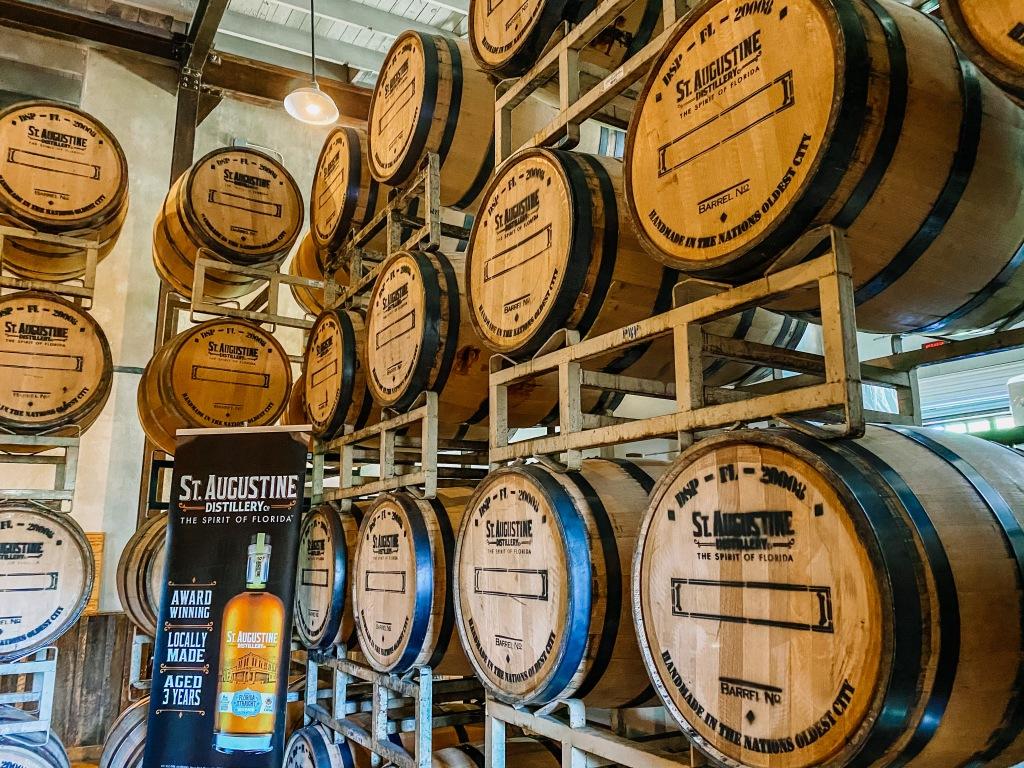 St. Augustine Distillery bourbon barrels