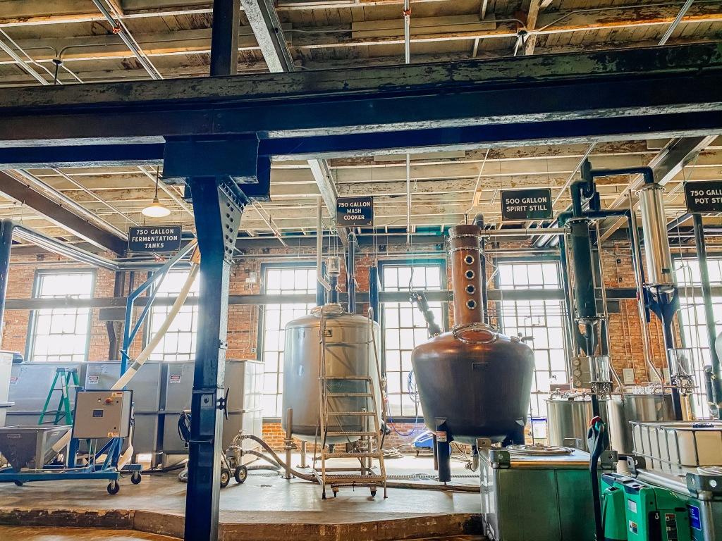 St. Augustine Distillery stills and fermentation tanks